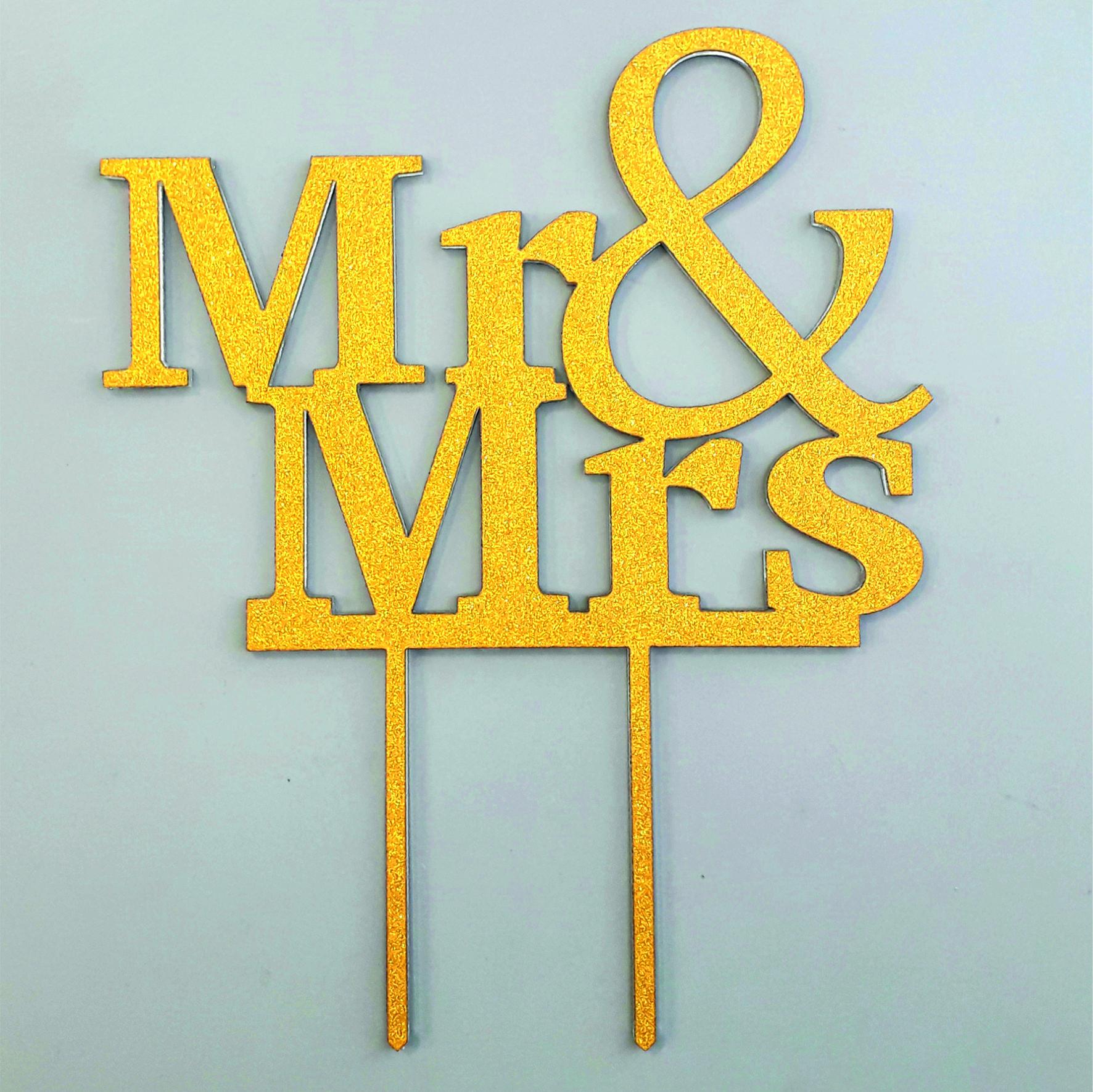 Topper za tortu Mr & Mrs